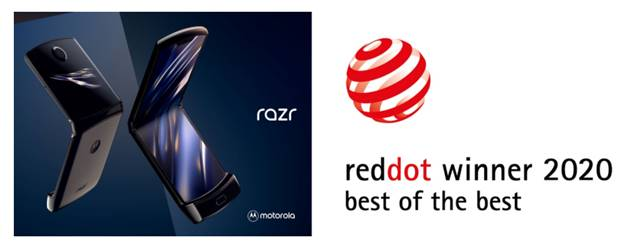 motorola razr recibe el premio Red Dot:  Best of the Best por su innovador diseño