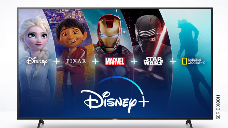 Disney+ estará disponible en los televisores Sony con Android TV