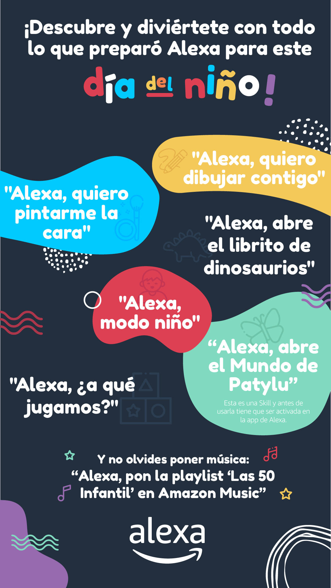 Arma la kermés del Día del Niño con Alexa y Amazon Devices