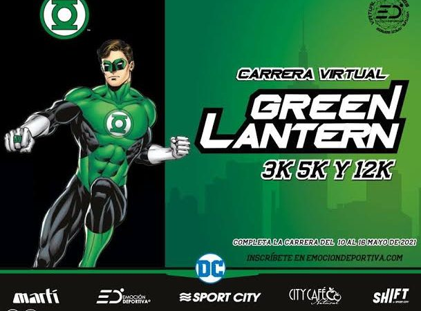 Inscríbete antes del 4 de mayo a la carrera virtual de The Green Lantern.